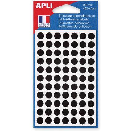 agipa Markierungspunkte, Durchmesser: 8 mm, rund, schwarz