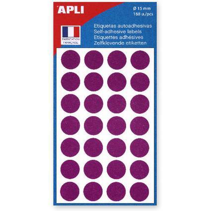 agipa Markierungspunkte, Durchmesser: 15 mm, rund, violett