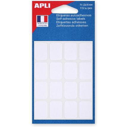 agipa Vielzweck-Etiketten, 16 x 22 mm, weiß