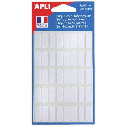agipa Vielzweck-Etiketten, 8 x 20 mm, weiß