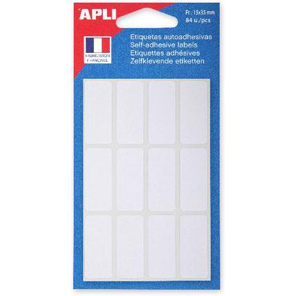 agipa Vielzweck-Etiketten, 15 x 35 mm, weiß