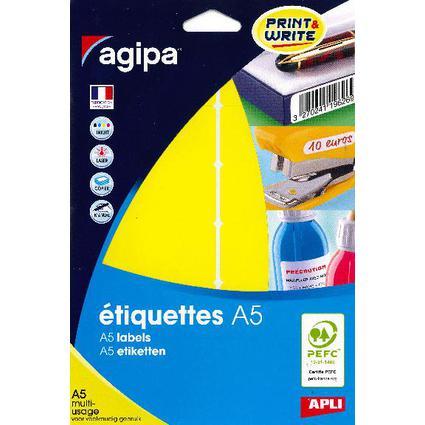 agipa Vielzweck-Etiketten, 32 x 70 mm, gelb