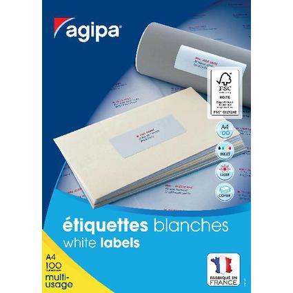 agipa Universal-Etiketten, 70 x 16,9 mm, weiß, rechteckig