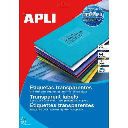 agipa Wetterfeste Etiketten, 99,1 x 38,1 mm, transparent