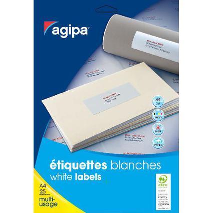 agipa Universal-Etiketten - Kleinpackung, 50 x 20 mm, weiß