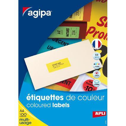 agipa Adress-Etiketten, 105 x 37 mm, gelb