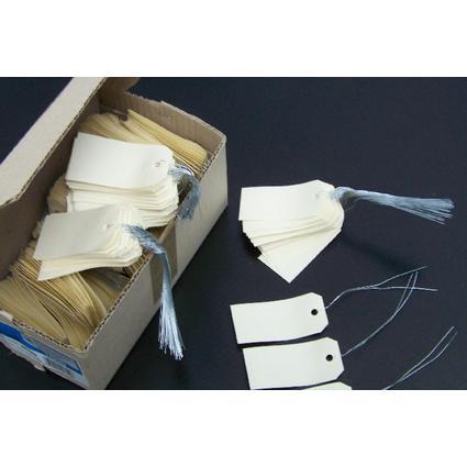 agipa Gepäckanhänger, 120 x 57 mm, neutral, mit Draht