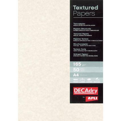 agipa Struktur-Papier, A4, 165 g/qm, Pergament warm grau
