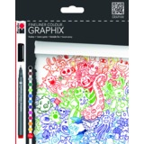 "Marabu fineliner COLOUR GRAPHIX, ""DOODLE SUPREME"", 12er"
