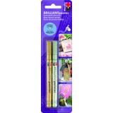 "Marabu lackmarker ""Brilliant painter Basic"", 2er Blister"