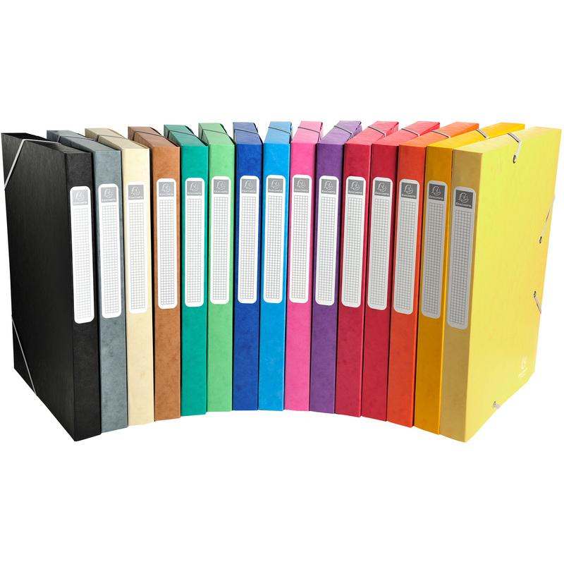 EXACOMPTA Sammelbox Cartobox schwarz 25 mm DIN A4