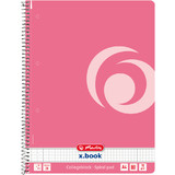 "herlitz collegeblock Color-Blocking ""Indonesia Pink"", A4"