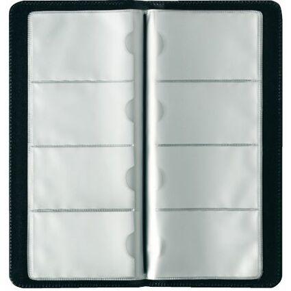 herlitz Visitenkarten-Mappe, Kunstledereinband, schwarz