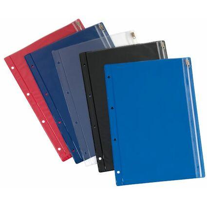 herlitz Reißverschlusstasche, PVC, farbig sortiert
