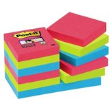Post-it haftnotizen Super sticky Notes, 51 x 51 mm, 3-farbig