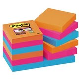 Post-it haftnotizen Super sticky Notes, 48 x 48 mm, 3-farbig