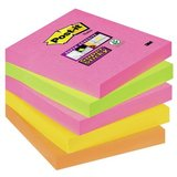 Post-it haftnotizen Super sticky Notes, 76 x 76 mm, 4-farbig