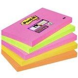 Post-it haftnotizen Super sticky Notes, 127 x 76 mm, 4-farbi