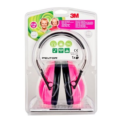 3M Peltor kid Kapsel-Gehörschutz H510, neonpink / schwarz
