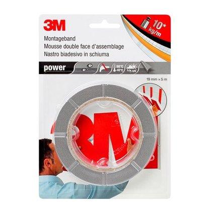 """3M Montageband """"power"""", 19 mm x 5 m, grau"""