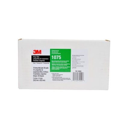 3M ScotchPad Hang-Tabs 1075, Deltalochung, 50,8 x 50,8 mm