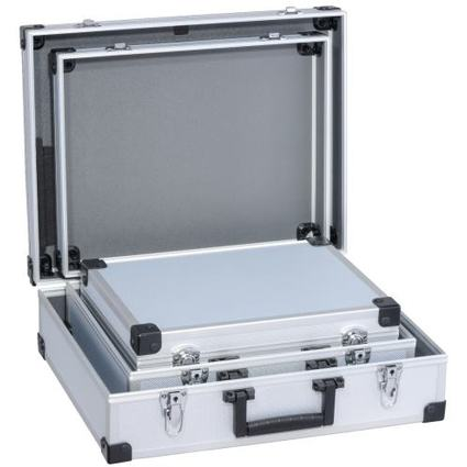 """allit Utensilien-Kofferset """"AluPlus Basic"""", 3-teilig, silber"""