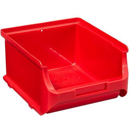 allit Sichtlagerkasten ProfiPlus Box 2B, aus PP, rot