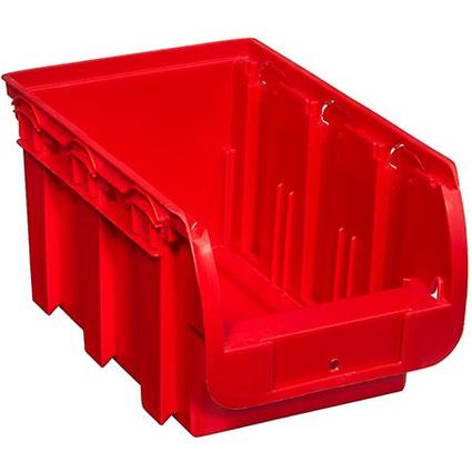 allit Sichtlagerkasten ProfiPlus Compact 3, aus PP, rot