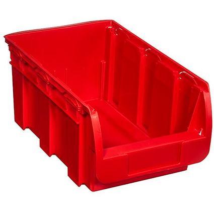 allit Sichtlagerkasten ProfiPlus Compact 4, aus PP, rot